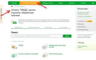 Как оплатить штраф ГИБДД через «Сбербанк Онлайн»